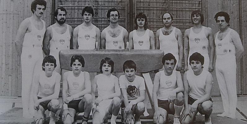 Turnabteilung beim 75-jährigen Jubiläum, 1981