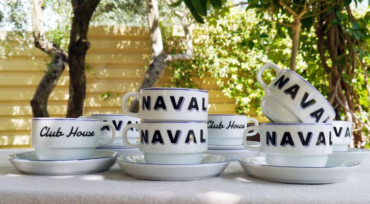 Service à café personnalisé pour la marque NAVAL sports&co