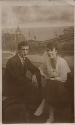 circa 1919 The Greengrasses, the couple who fostered Joan (JGML) during WWII
