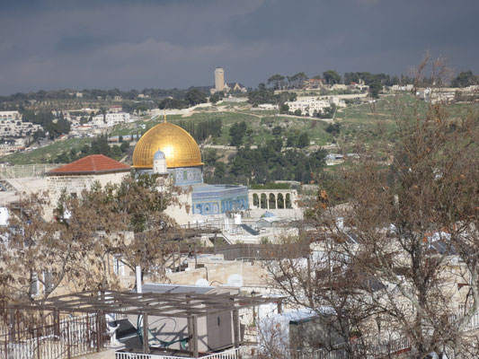 The Jewish Quarter - view of the Temple Mount