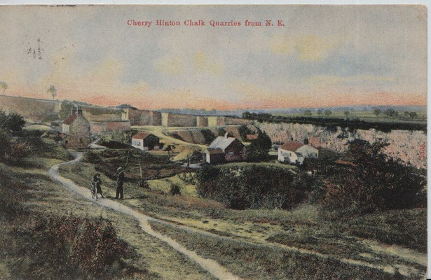 Cherry Hinton chalk quarries pmkd 1906