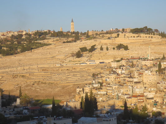 Jewish tombs on the other side of Kidron valley