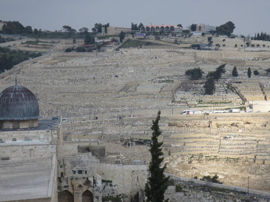 The Jewish Quarter - view of Mount of Olives