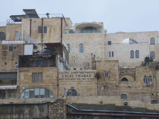 View of the Jewish quarter from the 'Wailing Wall'