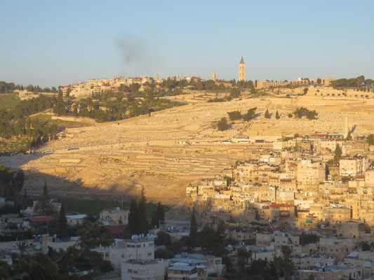 View across Kidron valley