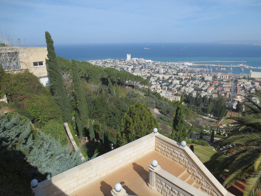 View from Mount Carmel across Haifa