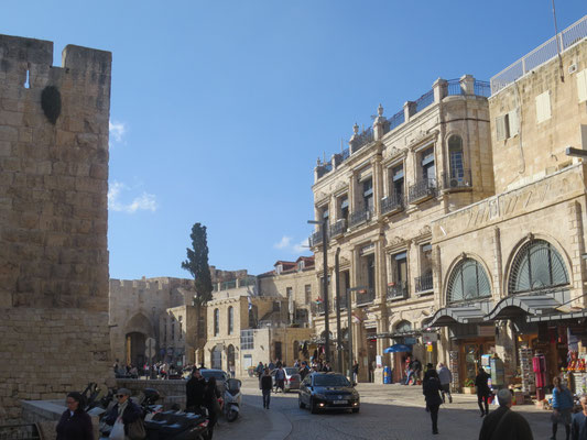 The square inside the Jaffa Gate