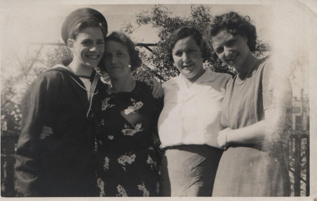 JGML collection: Billy, Mrs Hawkins, Auntie Maud, Joy Hawkins
