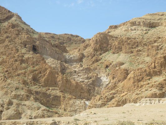 Hillside caves at Qumran