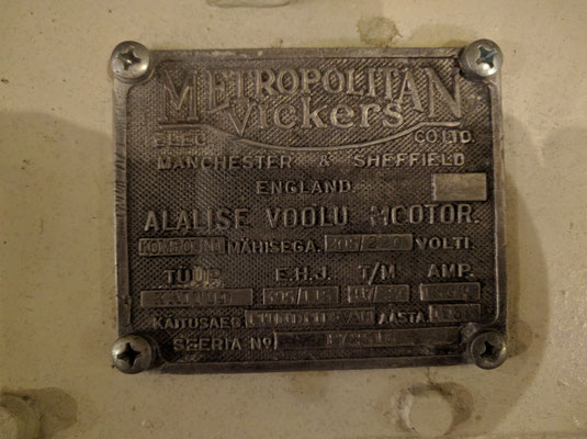 Label on engine