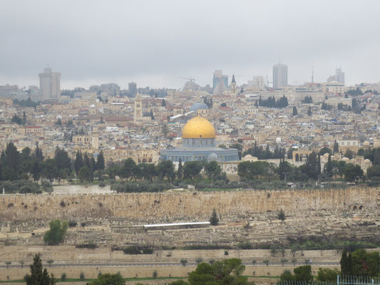 View of the old city from the Mount of Olives