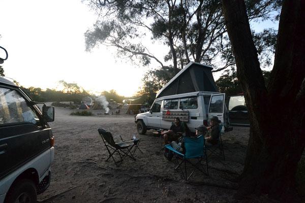 Gratis Camping vor der Wineglass Bay