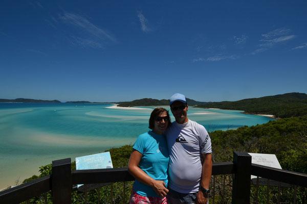 Aussicht auf den Whitehaven Beach