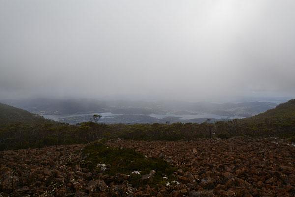 ab und zu sah man doch Teile von Hobart