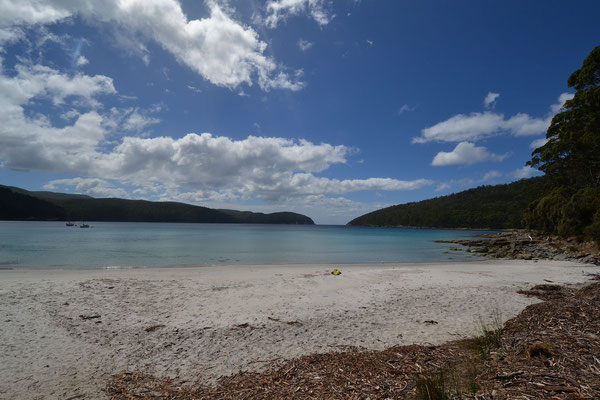 Strand beim Fortescue Bay Campground