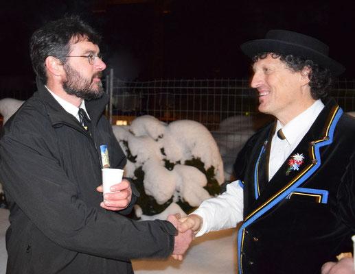 Alphornblaeser Urs und Jodler..