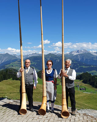 Alphorntrio Hanspeter Weber, Monika Sumi, Thomi Wolf