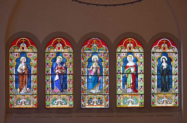 Glas/Kirchenfenster in der Marienkirche, Davos Platz