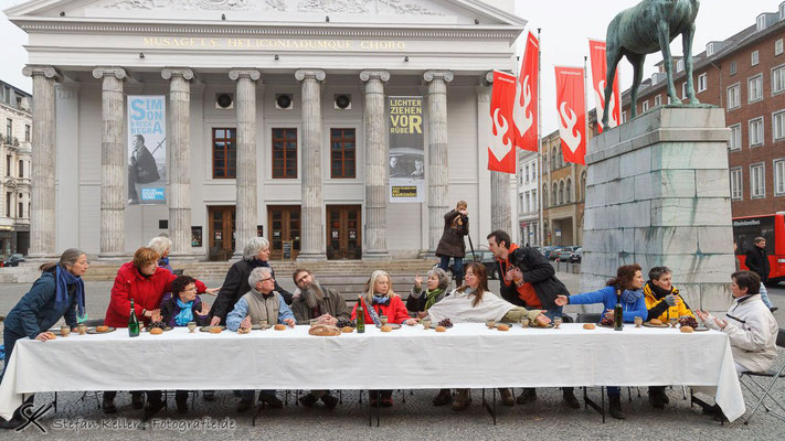 Das letzte Abendmahl Straßentheater Aachen+Mönchengladbach 2013