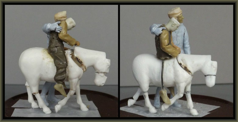 WWI Vignette ; 54mm Airfix/Tamiya Figure Conversion ; 1. Stage
