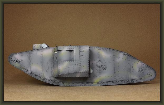 British Mk I 'Male' Tank, Diorama 1/35, Stage 14