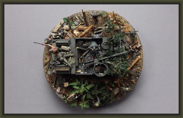 The Cuckoo's Nest,  M7B1 105mm HMC 'Priest', Okinawa 1945, Diorama 1:35