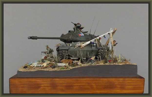 'Hamstrung' ; M41 Walker Bulldog ; Diorama 1/35 ; Completion