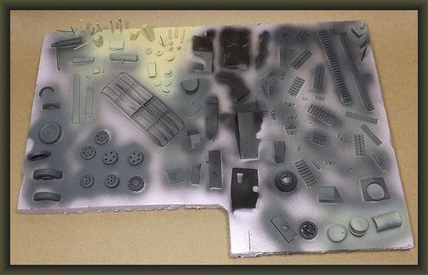 Bedford QL & 6 PDR. Gun, Diorama 1:35, Building Report