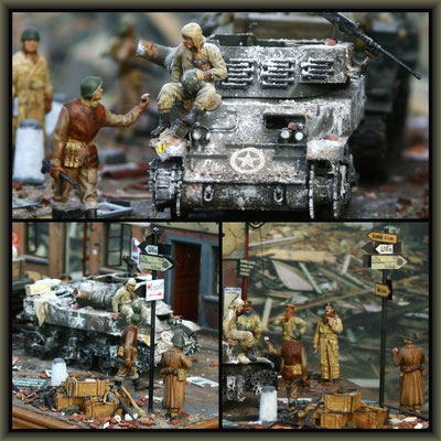 'Gost Riders' ; Sherman ARV & M8 HMC; Diorama 1/35 ; Completion