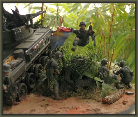 """Jumpin' Jack Flash"" ; M42 Duster ; Vietnam 1969 ; Diorama 1:35"