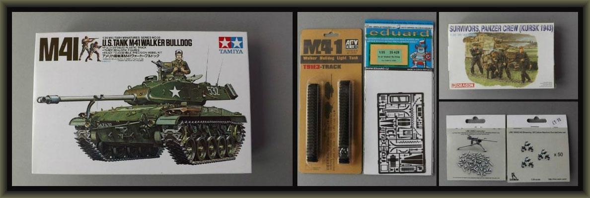 M41 Walker Bulldog ; Diorama 1/35 ; Material