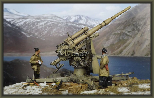 'Arctic Blast' ; 88mm Flak 37 ; Diorama 1:35 ; Completion