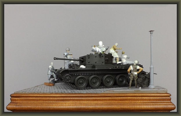Cromwell Mk.IV ; Diorama 1:35 ; 2. Stage