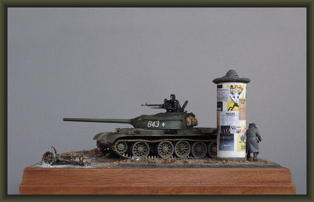 T-54 Tank, Diorama 1:35, Completion