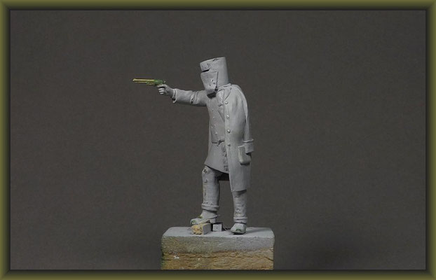 Ned Kelly 54mm Figure Conversion Building Stages