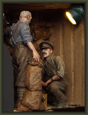 Flanders 1917, WWI Tunnel Warfare, 54mm Vignette