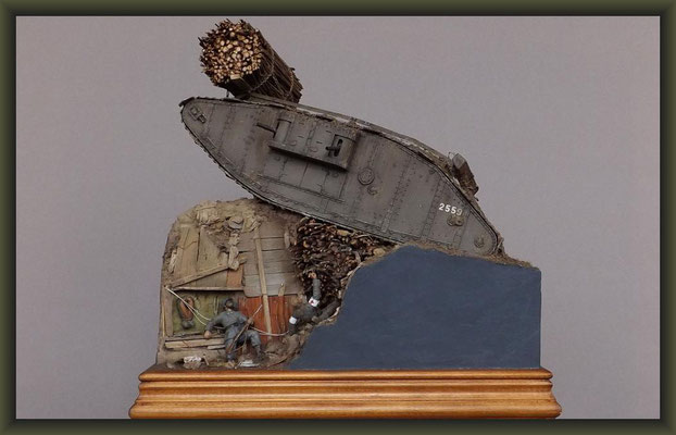 "War of the Worlds, Brit. Mk.IV ""Female"" Tank, Emhar, Diorama 1:35"