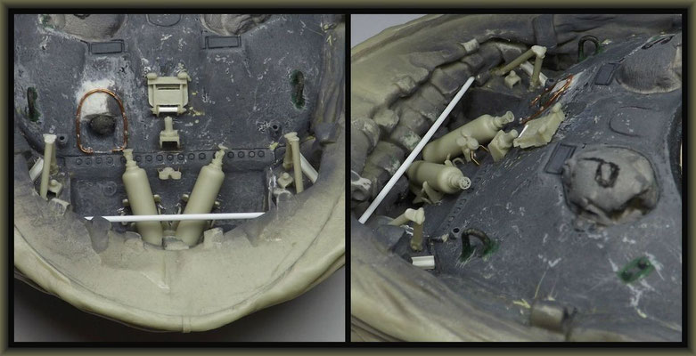 Sherman M4A1 (Large Hatch) DD ; Diorama 1:35 ; 7. Stage