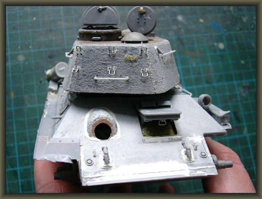 T-34/85 Composite ; Diorama 1/35 ; 2. Stage