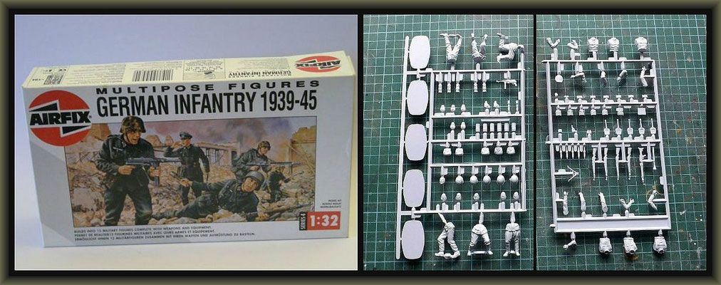 WWI Vignette ; 54mm Airfix Figure Conversion ; 1. Stage