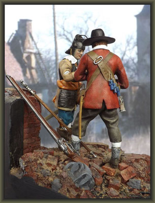 'Basing House' ; 1/32 Figure Conversion ; Completion