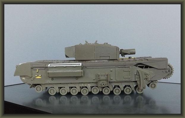 Churchill Mk III AVRE 'Petard' ; Diorama 1/35 ; 4. Stage