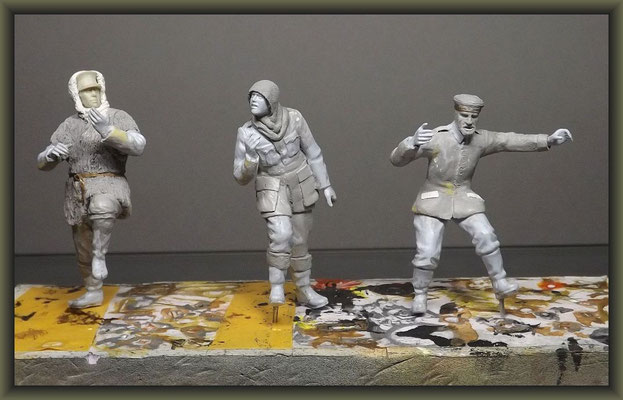 WWI Vignette ; 54mm Airfix Figure Conversion ; 3. Stage