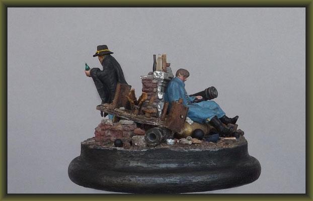 Loose Cannons, ACW. 54mm Figure Conversion, Vignette Completion