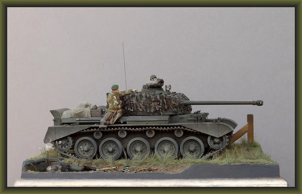 Sumpin' Shiney. British Cruiser Tank A34 Comet Diorama 1:35