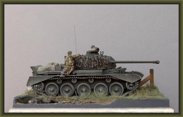 Sumpin' Shiney. British Cruiser Tank A34 Comet Diorama 1:35