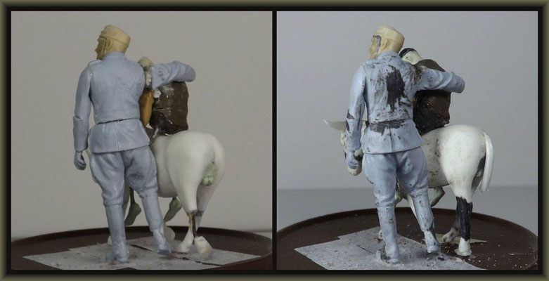 WWI Vignette ; 54mm Airfix/Tamiya Figure Conversion ; 2. Stage