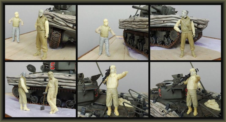Sherman M4A1 (Large Hatch) DD ; Diorama 1:35 ; 12. Stage
