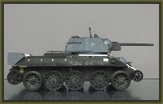 T34/76, 1943 Production Model Tamiya MM159, Building Stages