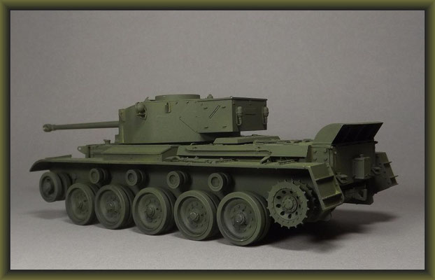 British Cruiser Tank A34 'Comet' Diorama 1:35 Building Stages